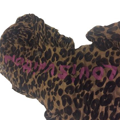 Louis Vuitton Leopard Silk Stole cachimir