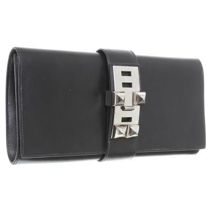 "Hermès ""Medor"" clutch in black"