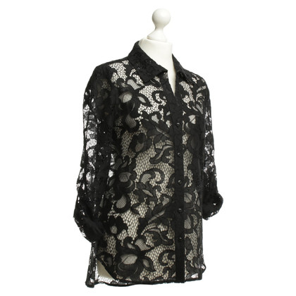 Diane von Furstenberg Lace blouse in black