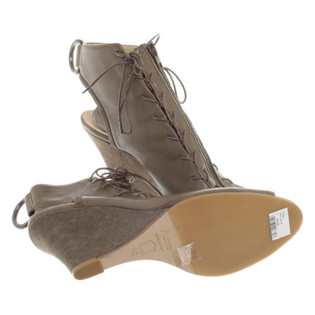 Acne Wedges Khaki in Acne Khaki Wedges qFaBC1wq