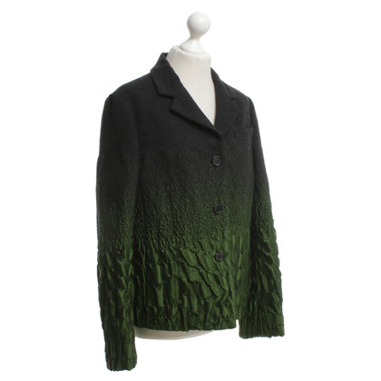 Prada Jacket in green / black