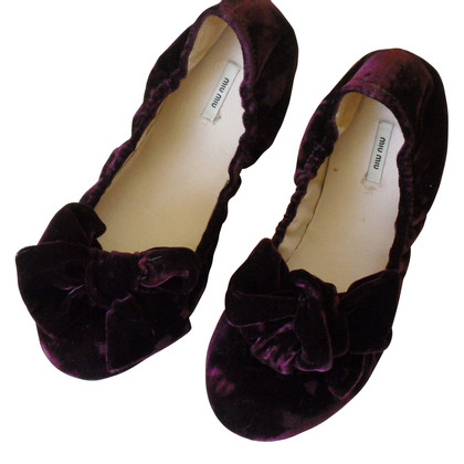 Miu Miu Ballerinas made of velvet