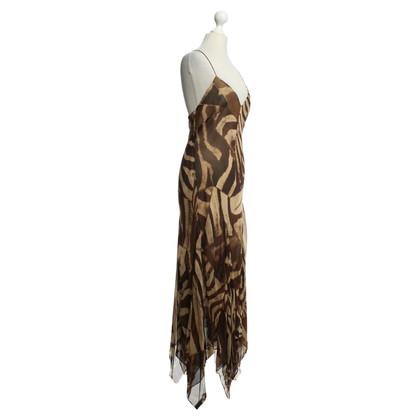 Ralph Lauren Robe en soie avec imprimé animal