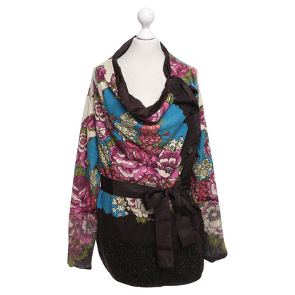 Kenzo Cardigan with floral weave pattern