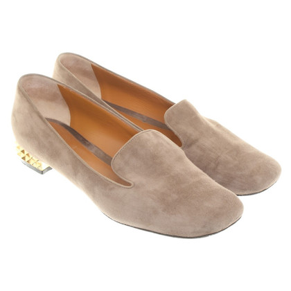 Fendi Loafers with chunky heel suede