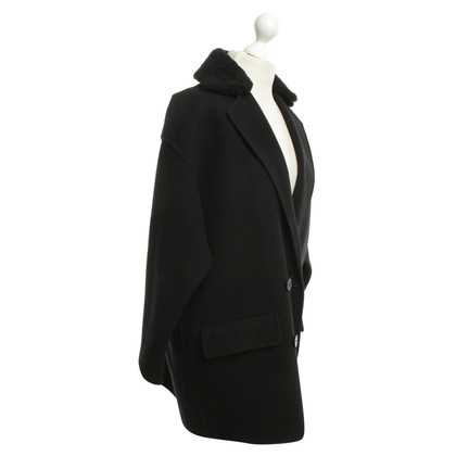 Maje Cappotto oversize in Black