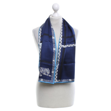 Cartier Zijden sjaal in blauw