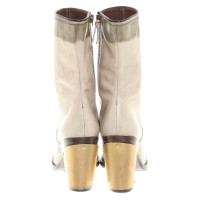 Miu Miu Boots in cream white