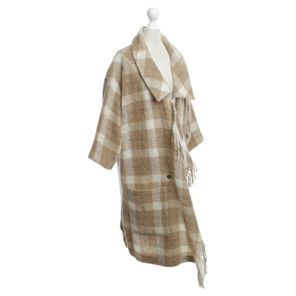Other Designer Designers Remix - Cardigan with check pattern in cream / beige