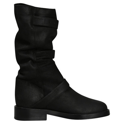 Ann Demeulemeester Black buckle boots, collection 2017