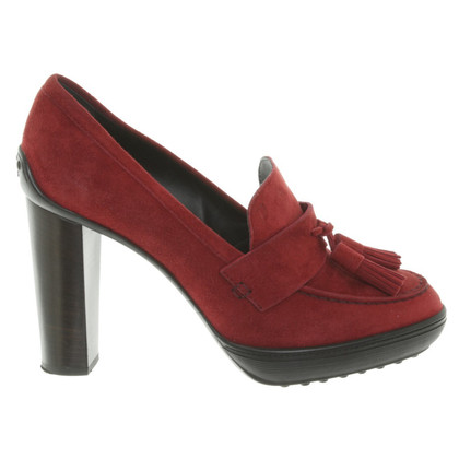Tod's Wild leatherpumps in red