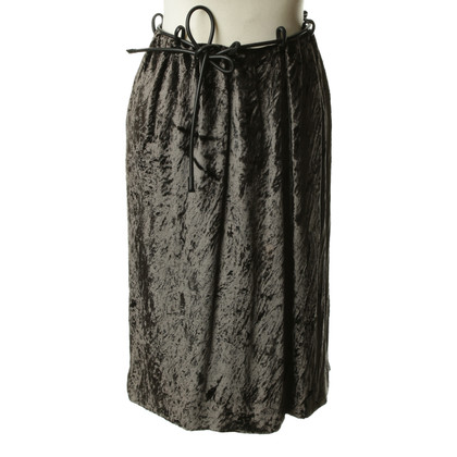 Gucci Velvet skirt in grey