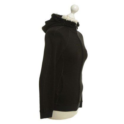 Prada Hooded shirt with fur collar