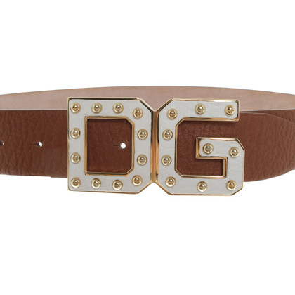 Dolce & Gabbana Belt in brown / white