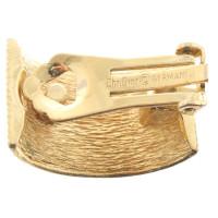 Christian Dior Gold colored semi-precious stones