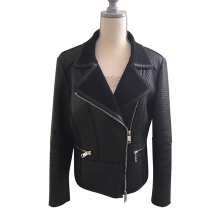 Marc Cain Leren jas in biker-look