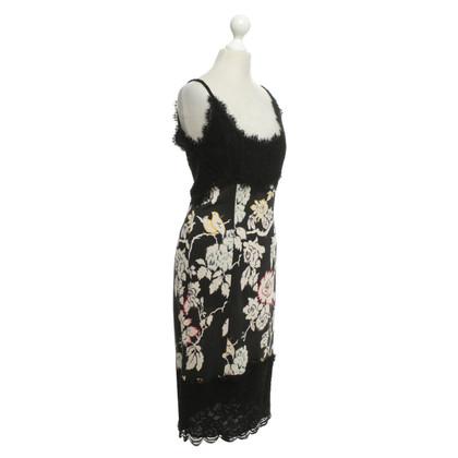 Diane von Furstenberg zijden jurk met pieken Details
