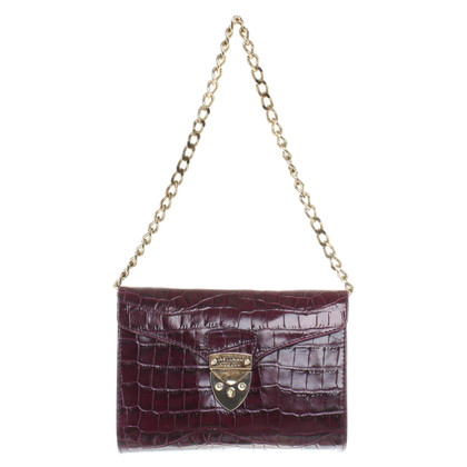 Aspinal of London clutch a Bordeaux