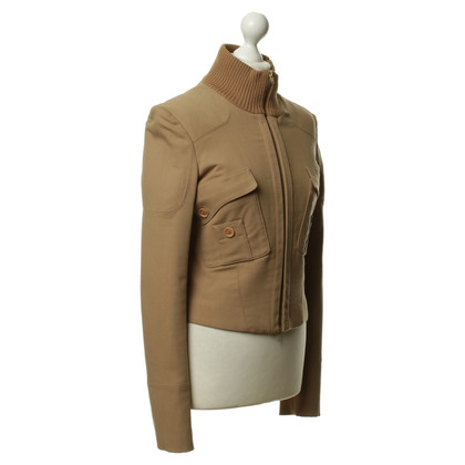 Alessandro Dell'Acqua Metallo jacket with rib knit collar