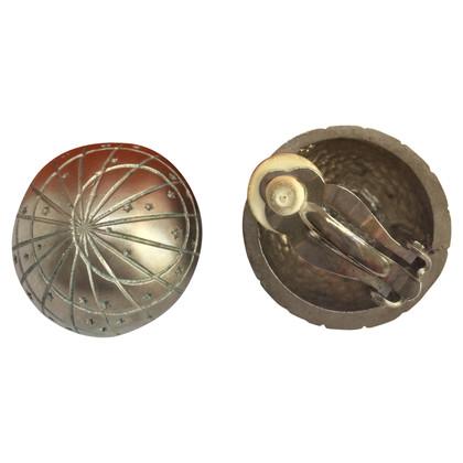 Hermès Silver ear clips