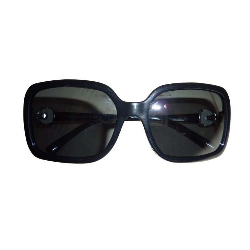 chanel schwarze sonnenbrille second hand chanel schwarze. Black Bedroom Furniture Sets. Home Design Ideas