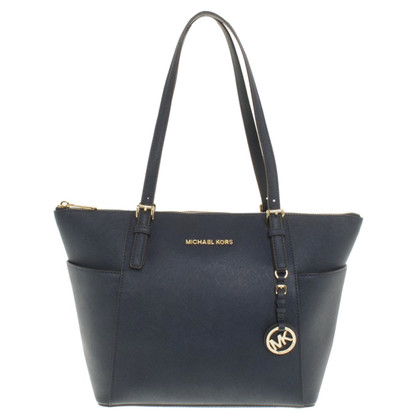 "Michael Kors ""Jet Set Bag"" in Blau"