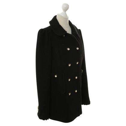 Juicy Couture Short wool coat in black