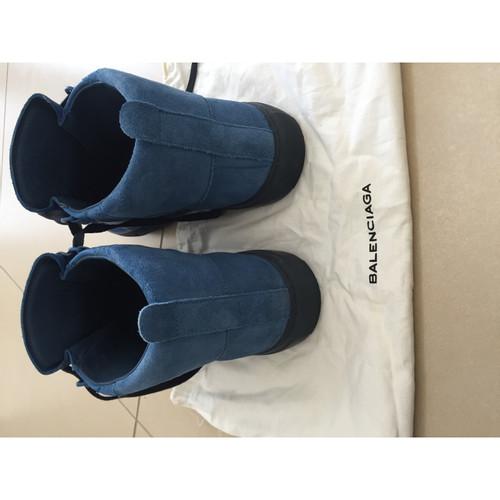 plus de photos e84bd 4ceb5 Balenciaga Chaussures de sport en Daim en Bleu - Acheter ...