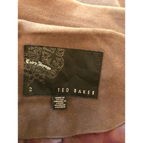 Ted Baker JackeMantel aus Baumwolle in Braun Second Hand