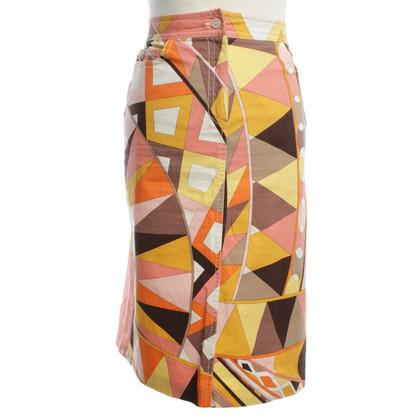 Emilio Pucci Cotton skirt in multicolor