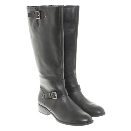 Ralph Lauren Leather Boots in Black