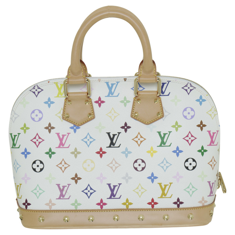 louis vuitton tasche alma canvas monogram multicolor second hand louis vuitton tasche alma. Black Bedroom Furniture Sets. Home Design Ideas