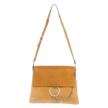 "Chloé ""Faye Shoulder Bag"" in mustard yellow"