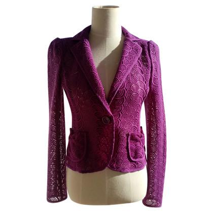 Nanette Lepore Fuschia lace blazer