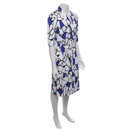 Gucci Wrap dress in blue / white