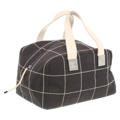 Chanel Handtas in zwart / wit