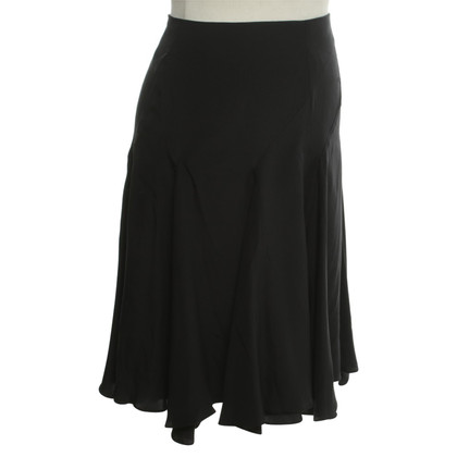 Reiss Silk skirt in black