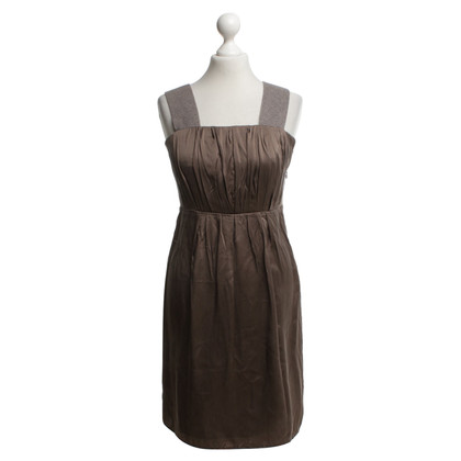 Marc Cain Seidenkleid in Taupe