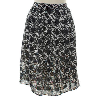 J. Crew skirt with polka dot pattern