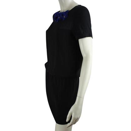 Maje Kleid in Schwarz mit Glitzer-Anhänger