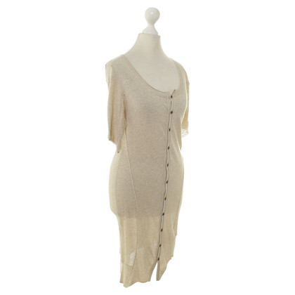 All Saints Strickkleid in Beige