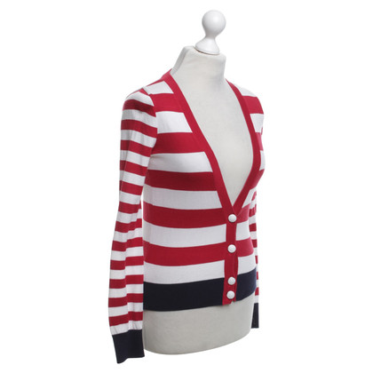 Moschino cardigan a righe in rosso / bianco / blu