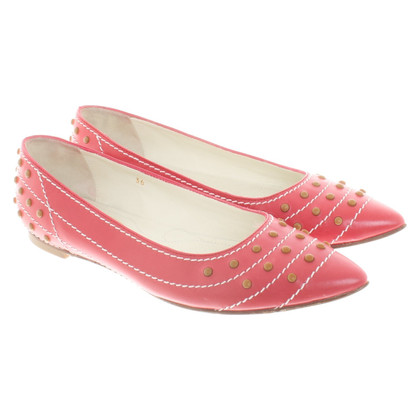 Tod's Ballerinas in red