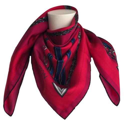 offerte esclusive acquisto speciale grande vendita Louis Vuitton Sciarpa in Seta in Rosso - Second hand Louis ...