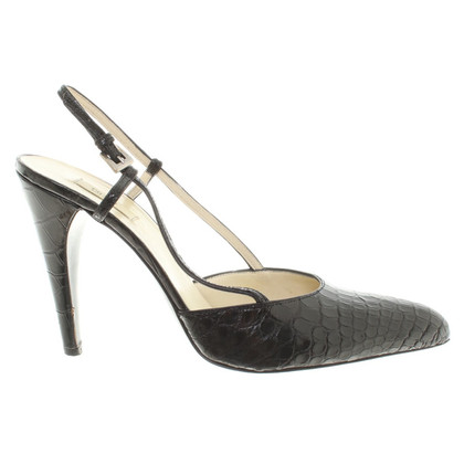 Prada Slingbacks in crocodile leather look