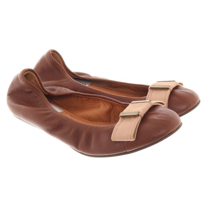 Lanvin Leather ballerinas in brown
