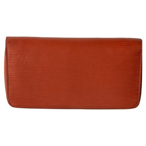 8ec0c2fe8d9c9 Louis Vuitton Täschchen Portemonnaie aus Leder in Orange - Second ...