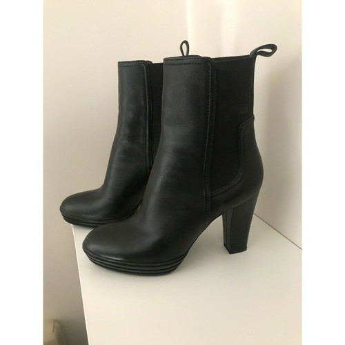 hot sale online 98ec0 324b7 Hogan Ankle boots Leather in Black - Second Hand Hogan Ankle ...