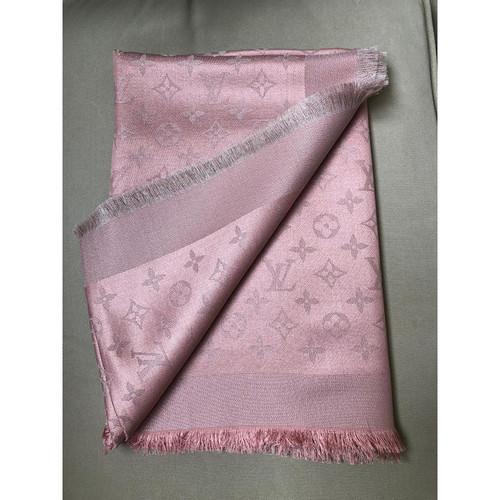 harmonische Farben professioneller Verkauf Herbst Schuhe Louis Vuitton Monogram Tuch in Rosa / Pink - Second Hand ...