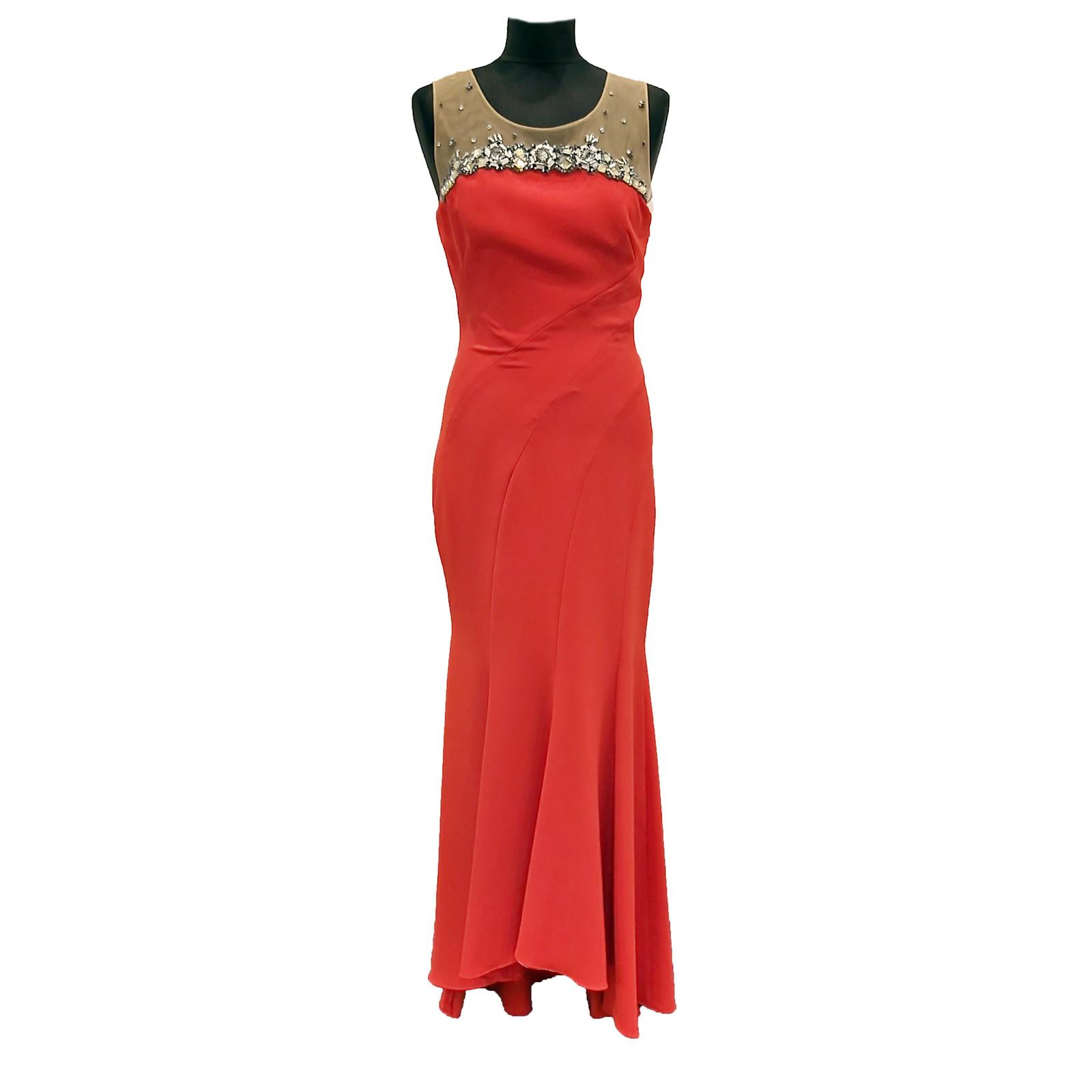 Marchesa Kleid in Rot - Second Hand Marchesa Kleid in Rot